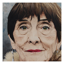 Oil Portrait Painting of June Brown, link to full image